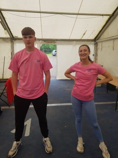 Harry and Sian ready to take it on.